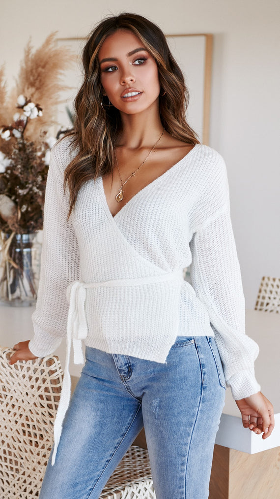 Cambridge Knit Top - White