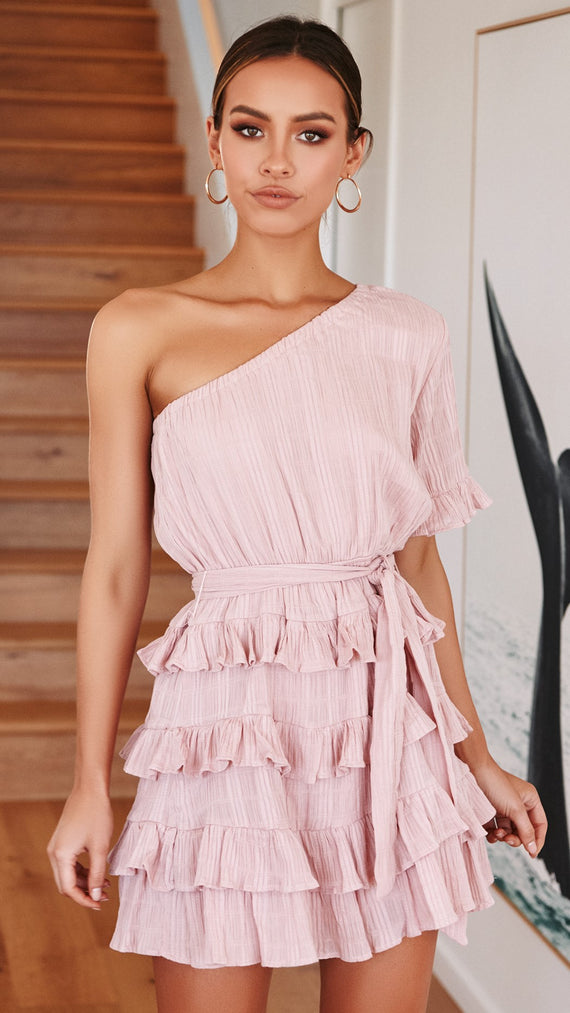 Florence Ruffle Dress - Musk