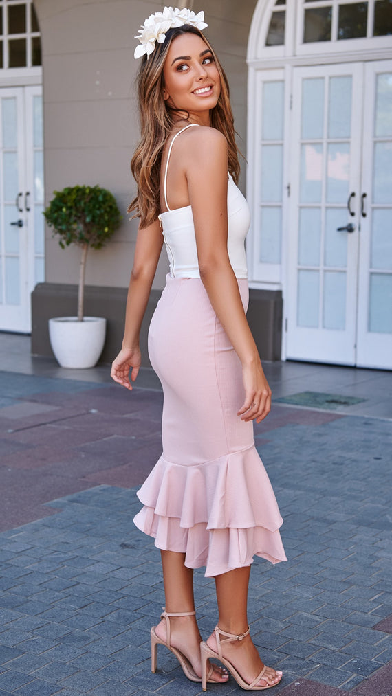 Allora Midi Skirt - Blush