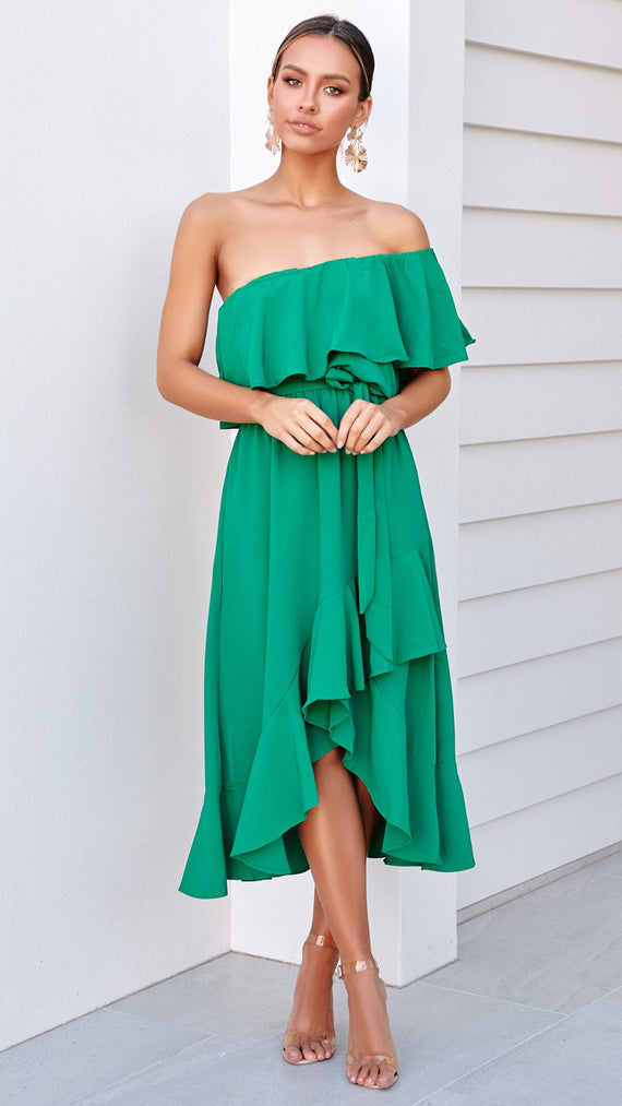 Aisha Dress - Emerald