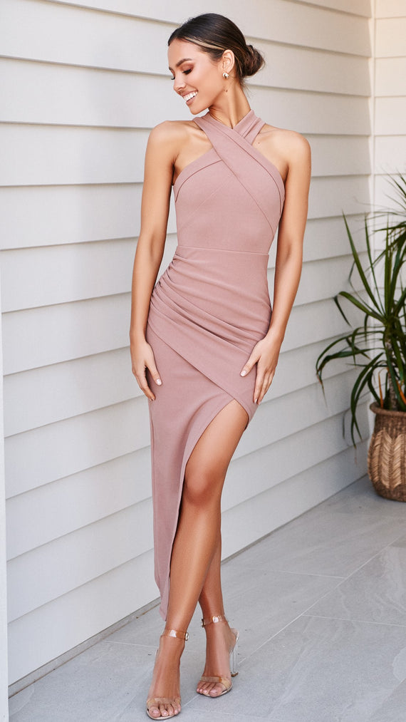 In the Moment Dress - Dusty Rose