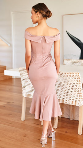 Night Like This Dress - Dusty Rose