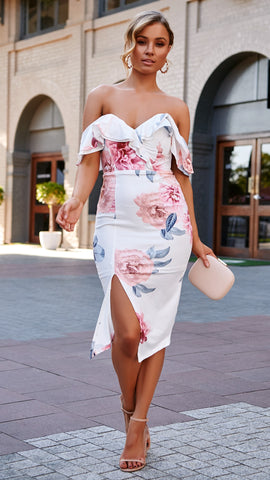 Derby Dress - White Floral