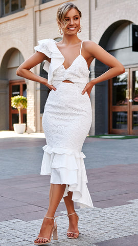 SOPHIA DRESS - WHITE