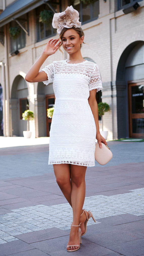 Anaya Dress - White Lace