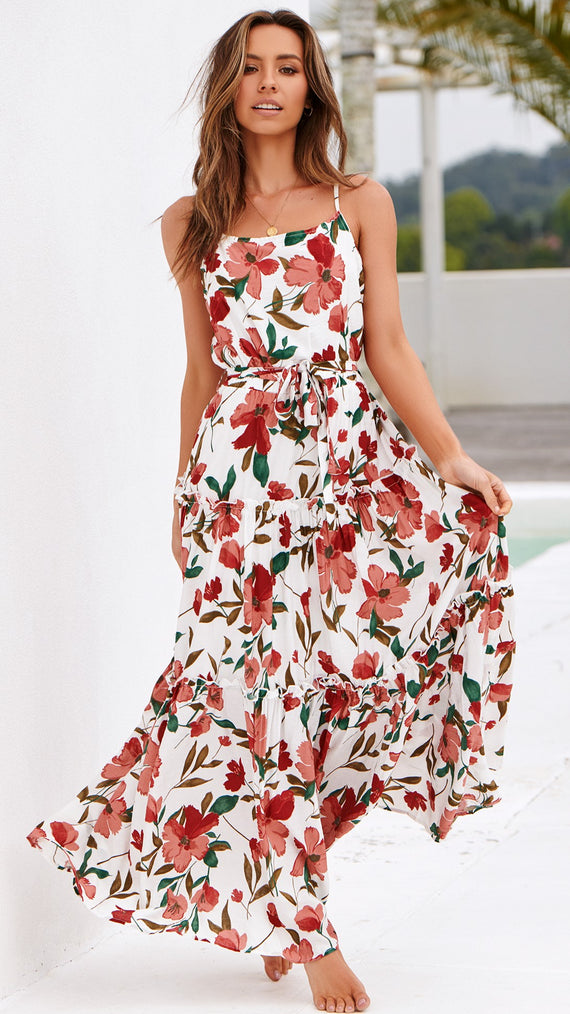 Betty Dress - Floral Red