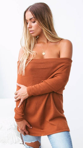 San Marco Knit Top - Rust