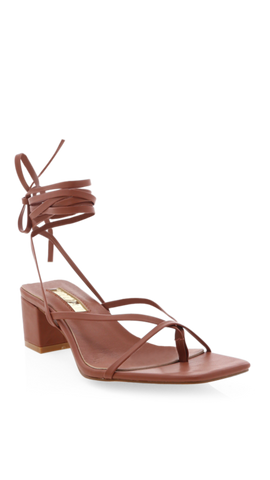 Millie Block Heel - Chocolate