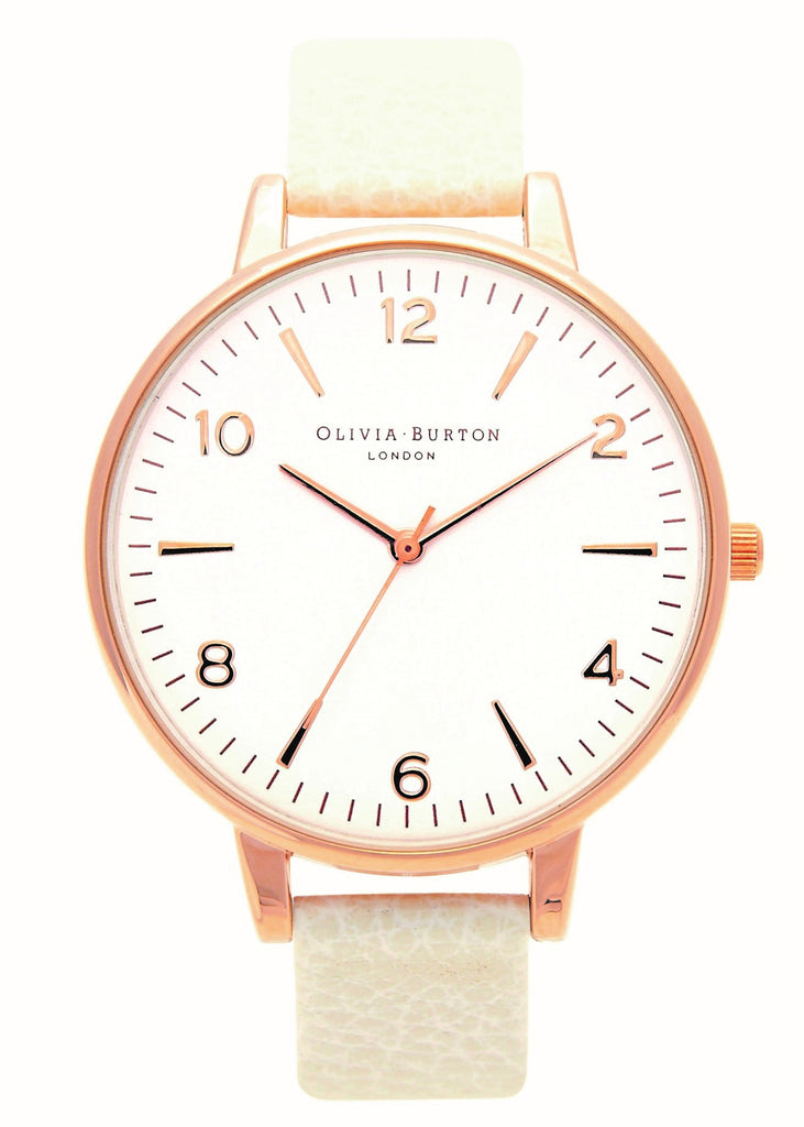 MODERN VINTAGE WHITE DIAL MINK AND ROSE GOLD