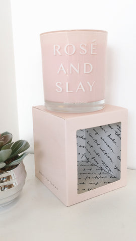 Rosè And Slay Candle - Blush