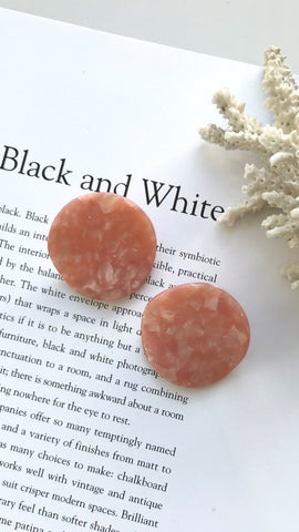 Wave Earrings - Pink Pearl