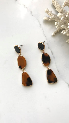Khloe Earrings - Gold / Tort Shell