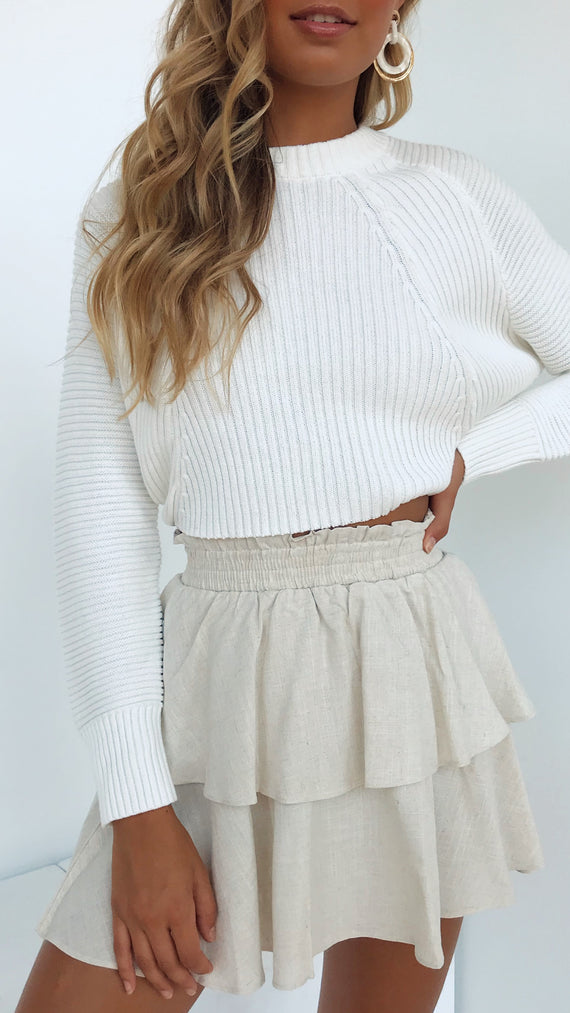 Love Sick Knit Top - White