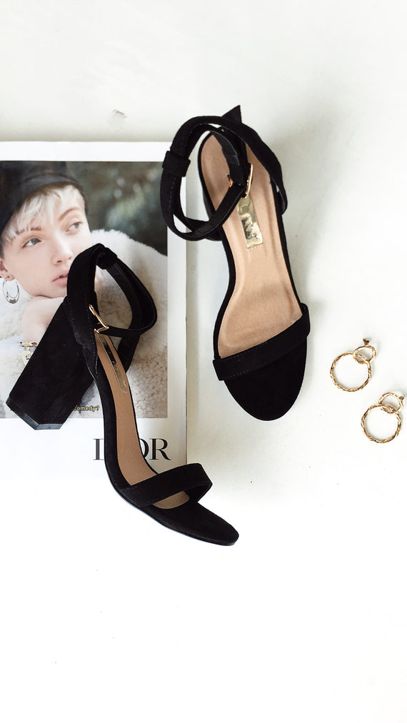 Carlina Heel - Black Nubuck