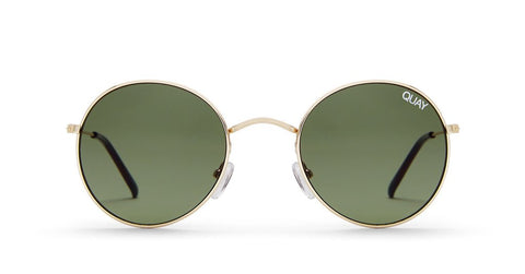 QUAY - MOD STAR - SUNGLASSES - GOLD/GREEN