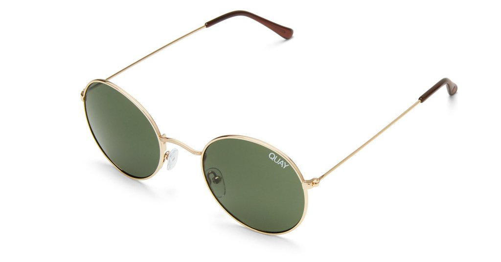 418928f6c319 QUAY - MOD STAR - SUNGLASSES - GOLD/GREEN
