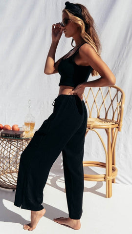 Ocean Vista Pants - Black