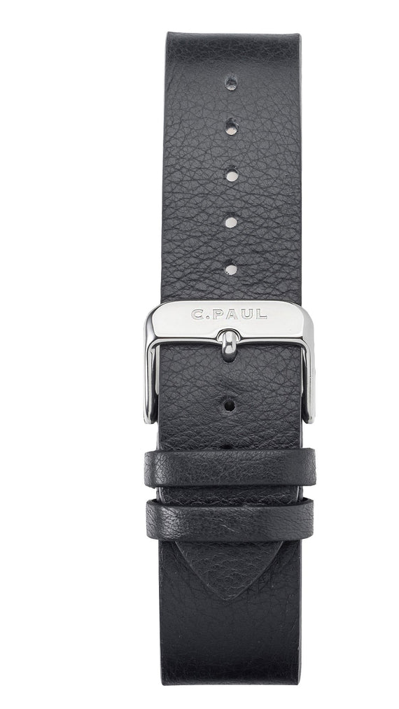 CHRISTIAN PAUL 43MM Black Strap-Silver