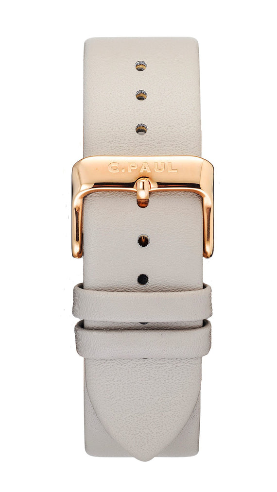 CHRISTIAN PAUL 43MM Grey Strap-Gold
