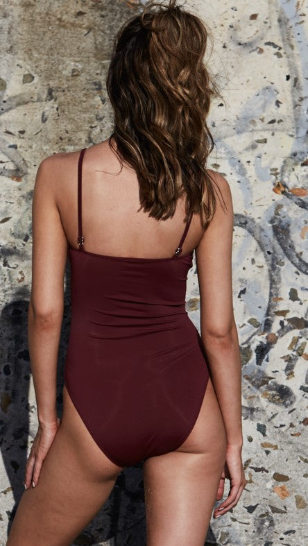 Bridget Bardot One Piece - Wine