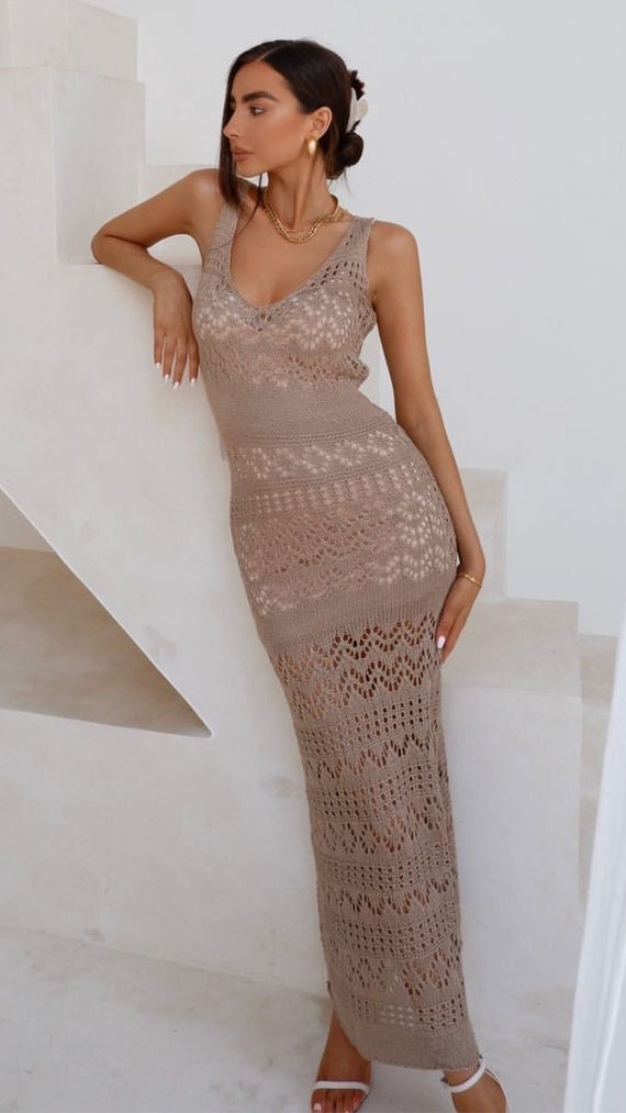 Shona Maxi Dress - Taupe