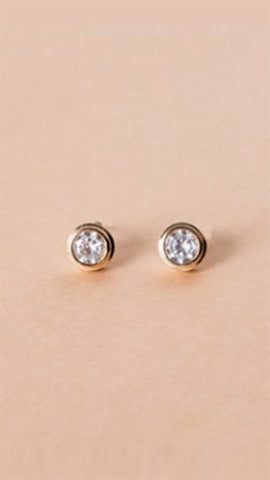 Glamour Earrings - Gold/Diamond