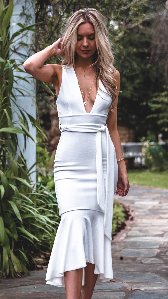 Vermont Dress - White - Restocked