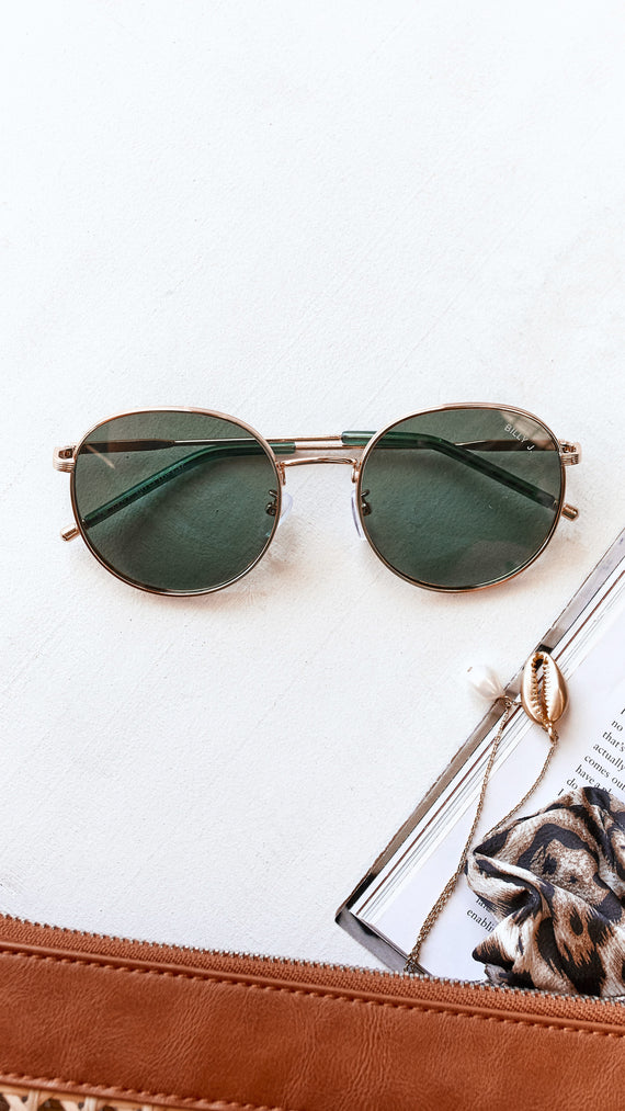 Joanne Sunglasses - Green/Gold