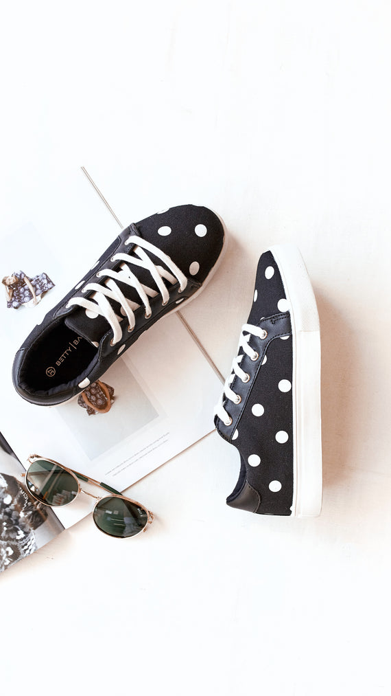 Exploration Sneaker - Black/White Polka Dot