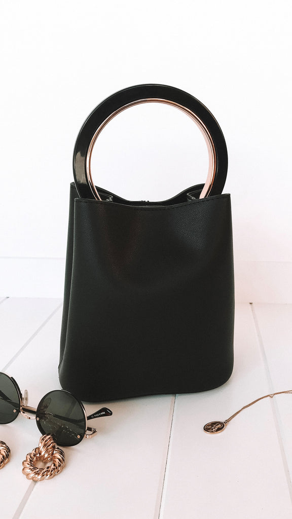 Elle Bucket Bag - Black