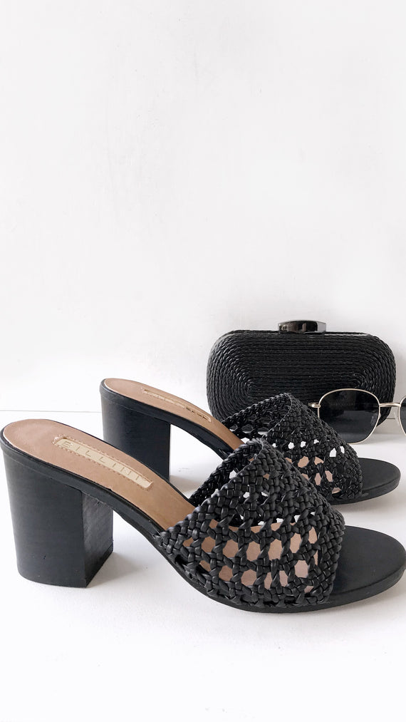 Chichi Mule Heel - Black