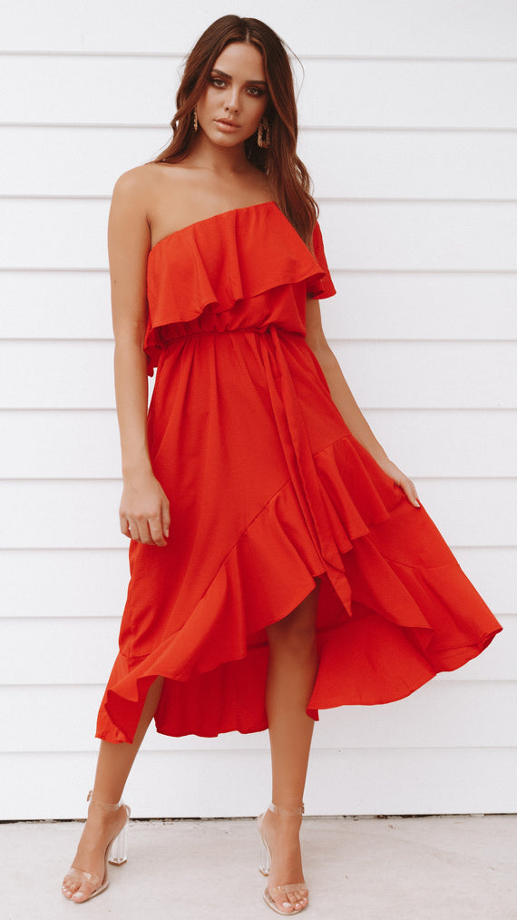 Aisha Dress - Scarlet
