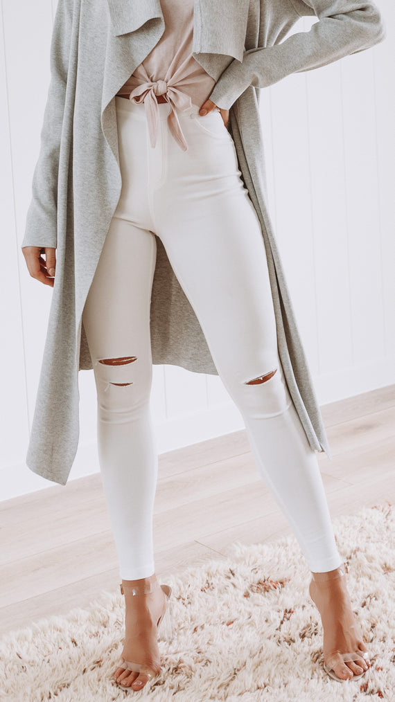 Bianco Jeggings - White