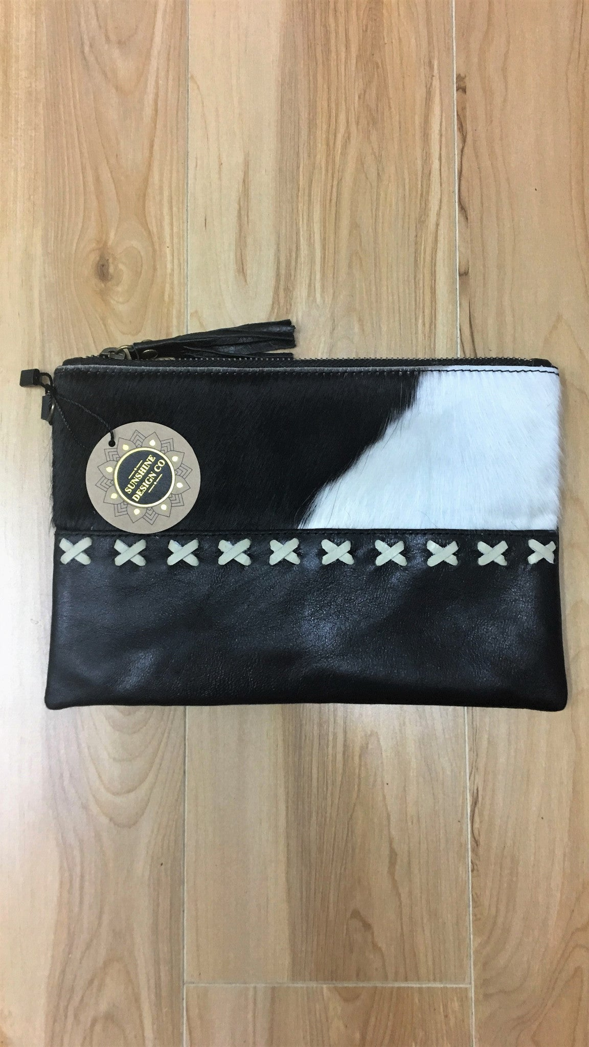 Lucy Arrow Coin Purse - Black Cowhide