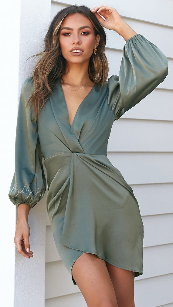 Glasshouse Dress - Olive