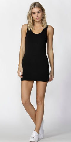 Whitney Tank Dress - Black