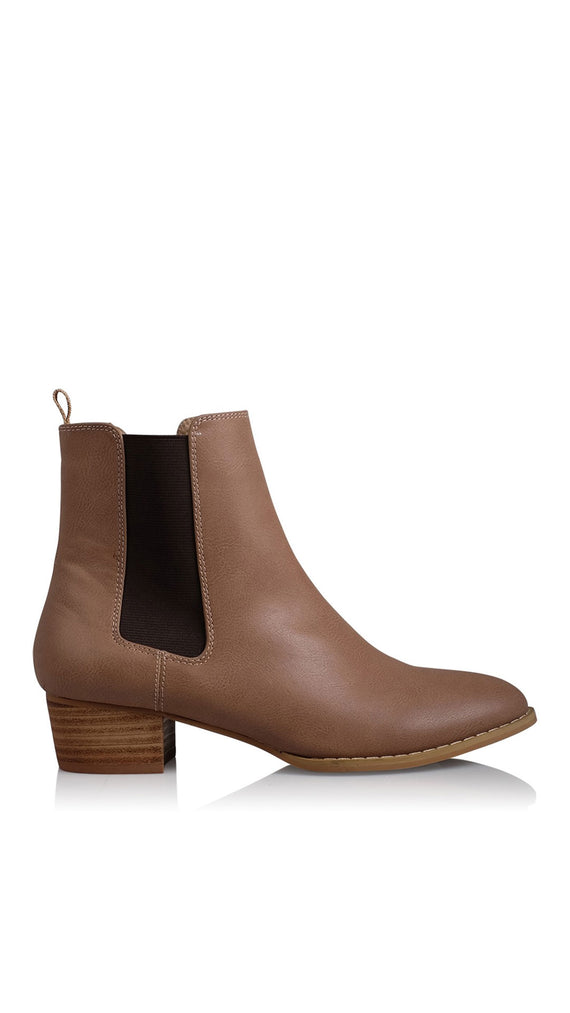 Richie Boots - Taupe Burnished