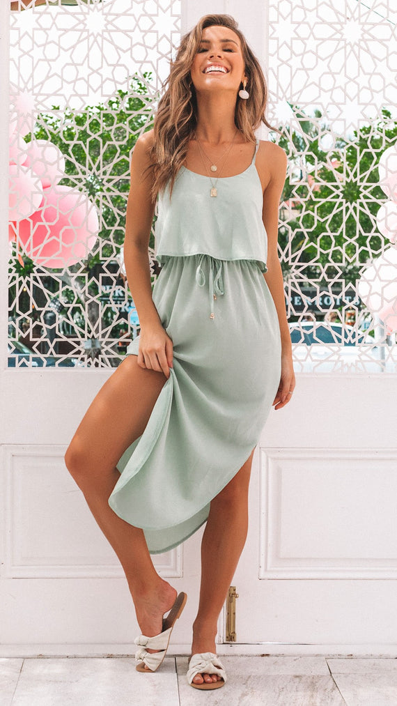 Memphis Dress - Pistachio