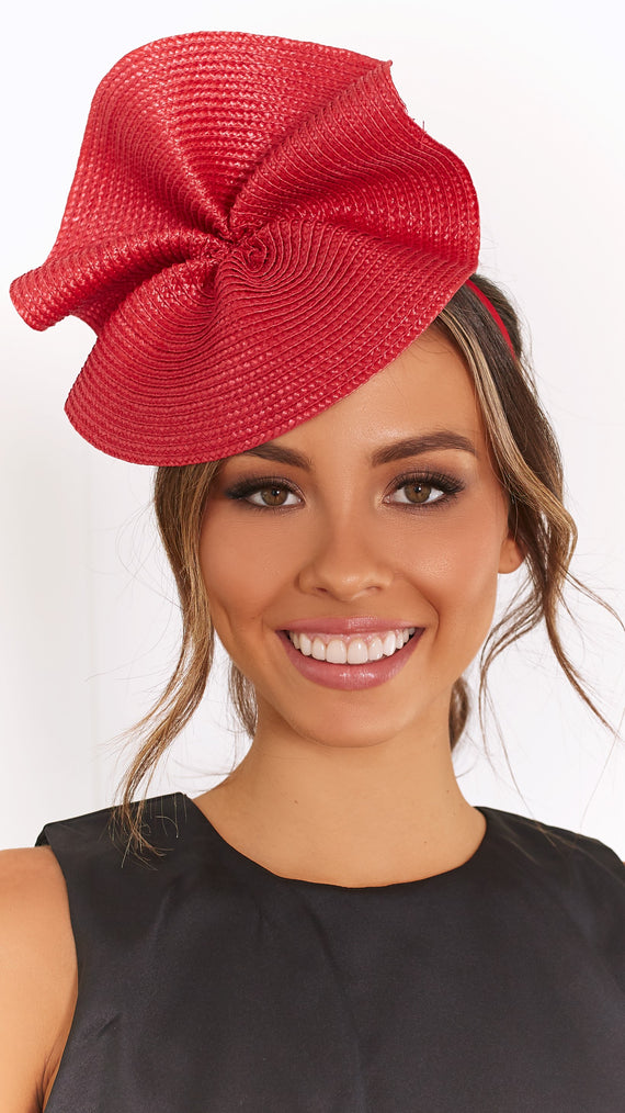 ZARIA FASCINATOR - Red