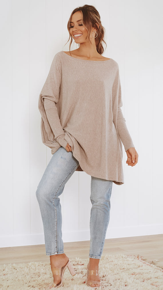 Warrior Knit Top - Taupe