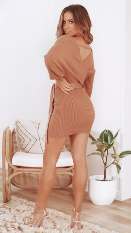 Bespoke Knit Dress - Tan