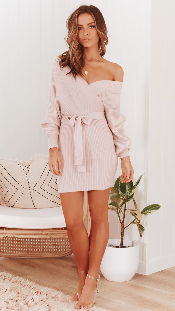 Bespoke Knit Dress - Blush