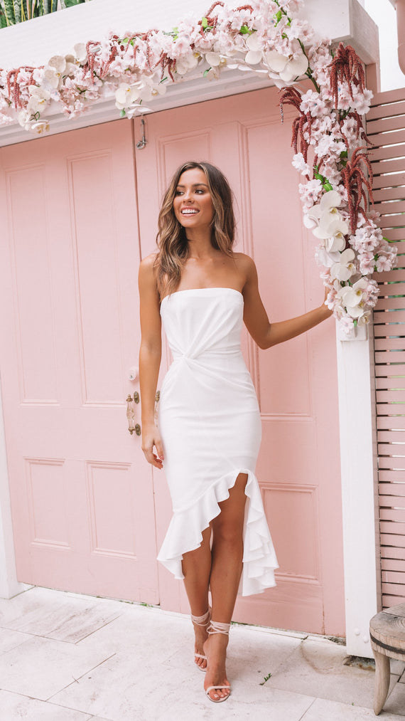 Audrina Dress - White