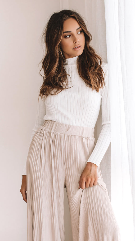 Cindy Knit Top - White