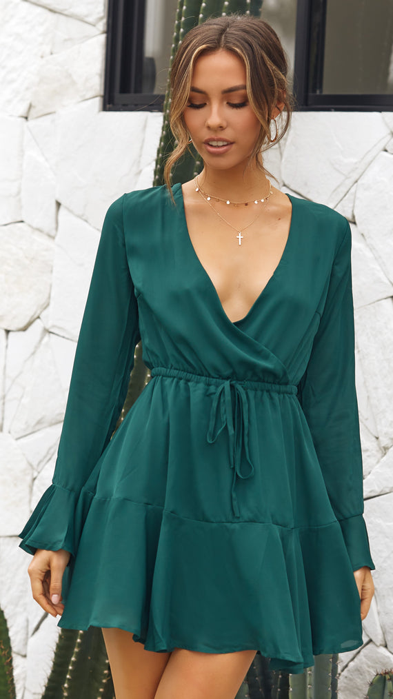 Zilch Dress - Emerald