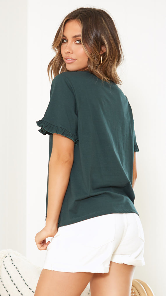 Ariella Top - Forest Green