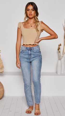 Lila Crop Top - Latte