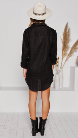 Leopold Oversized Shirt - Black