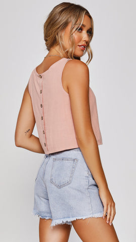 Persephone Crop Top - Blush