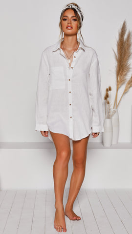 Leopold Oversized Shirt - White